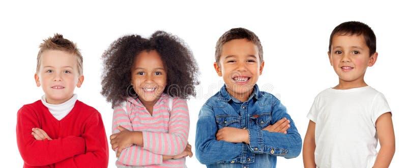 Kinder, die Kamera betrachten stockfotografie