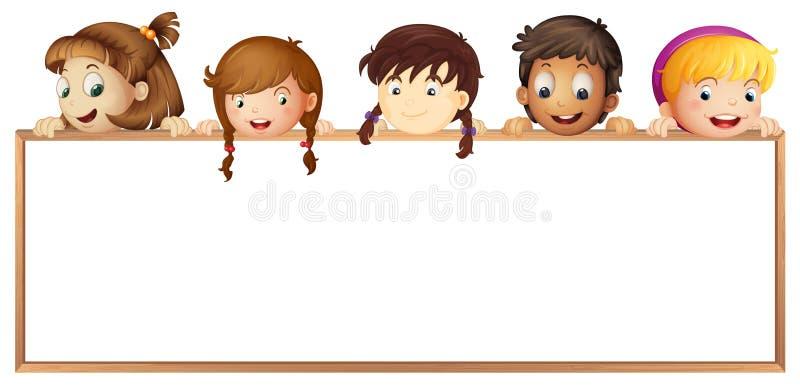 Kinder, die Vorstand zeigen stock abbildung