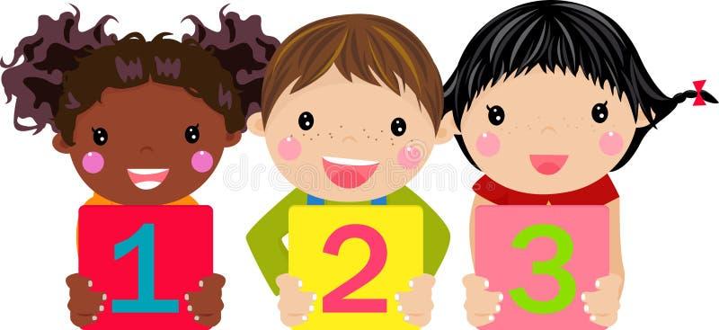 Kinder, die Zahl anhalten vektor abbildung