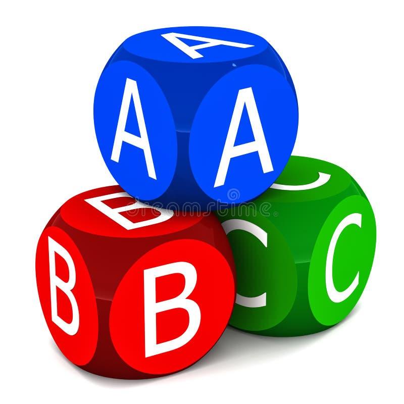 Kinder Erlernen ABC Lizenzfreie Stockfotografie
