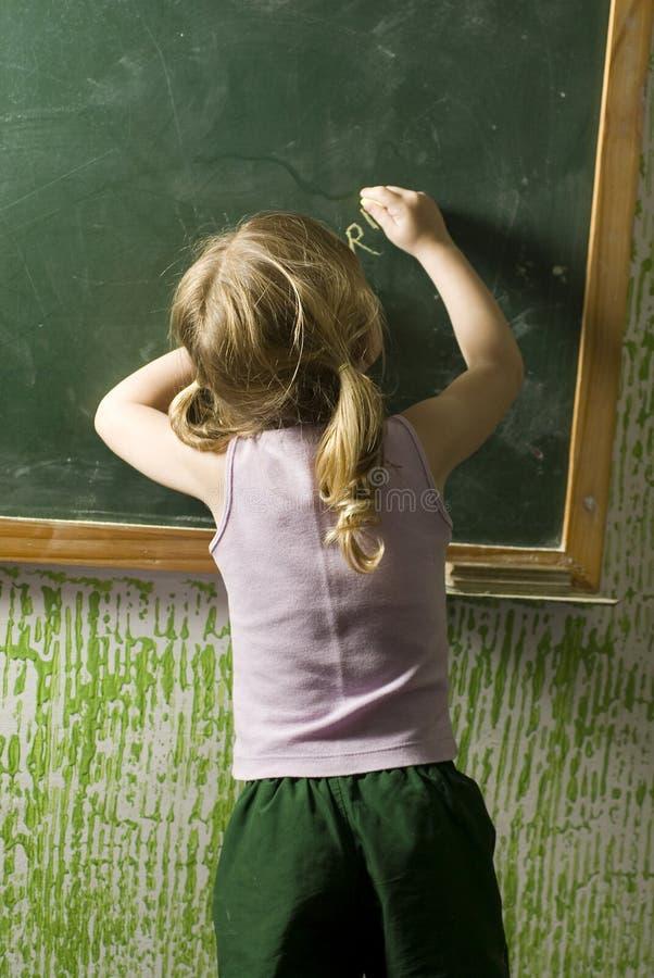 Kinder im Klassenzimmer stockbild