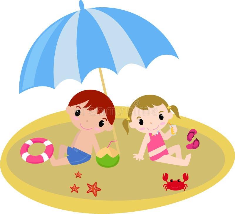 Kinder ist Sommer stock abbildung