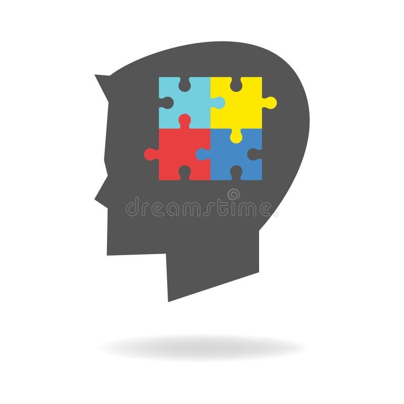 Kinder mit Autismus-Ikone stock abbildung
