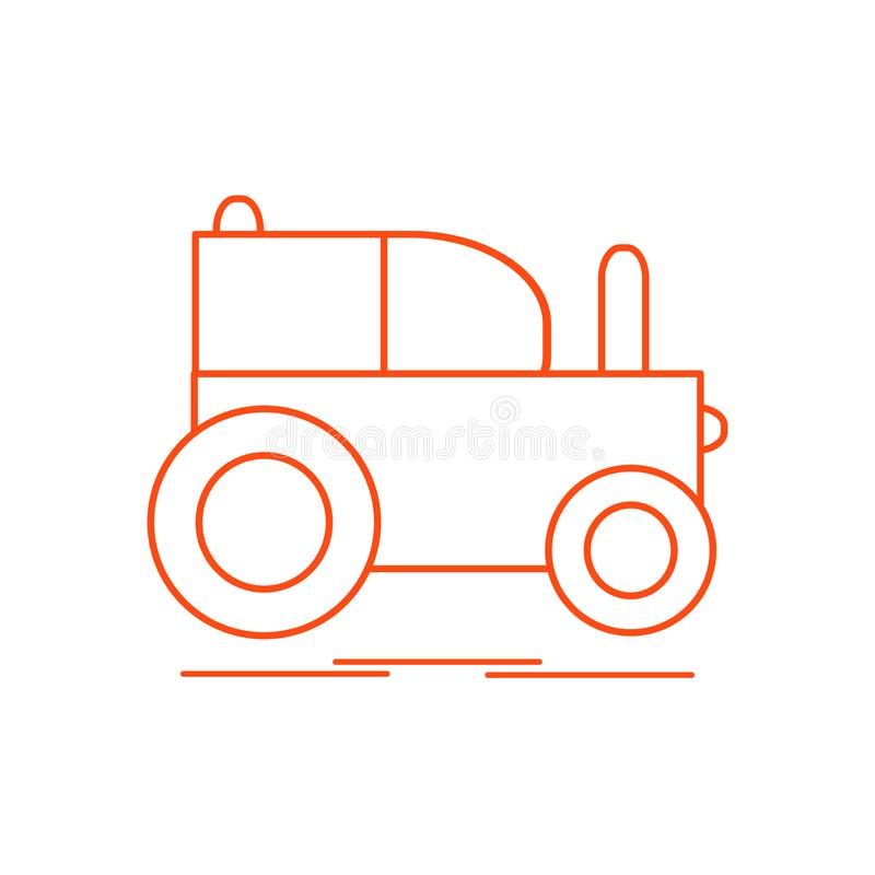 Kinder \ 's-Spielzeug: Traktor stock abbildung