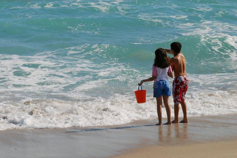 Kinder Am Strand Stockfotografie