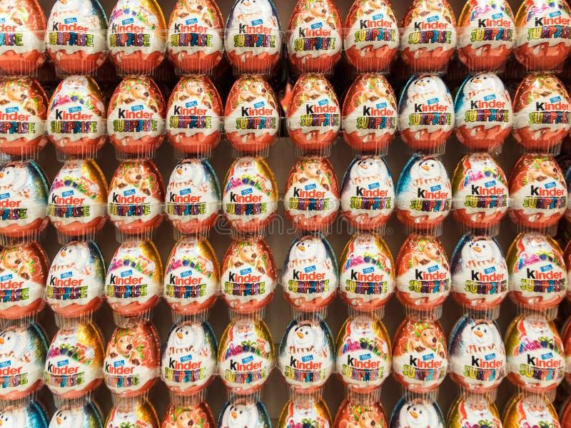 Kinder Surprise Chocolate Eggs royalty free stock photos