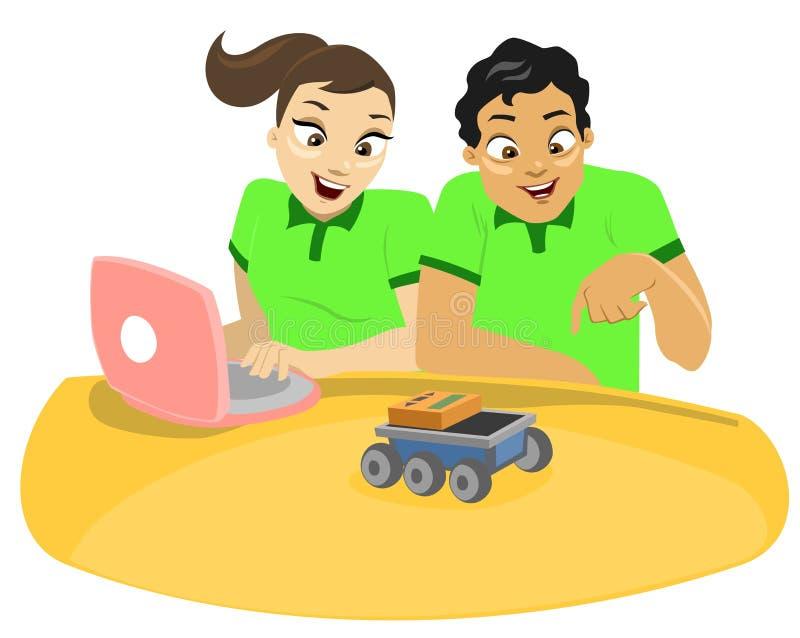 Kinder u. Technologie 1 stock abbildung