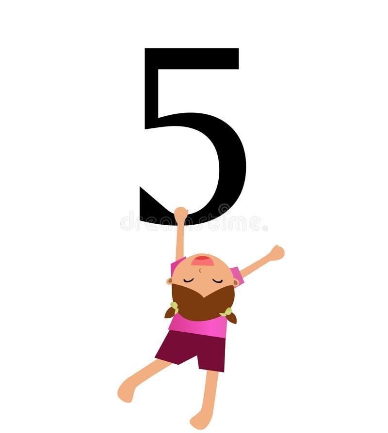 Kinder u. Zahl-Serie -5 vektor abbildung