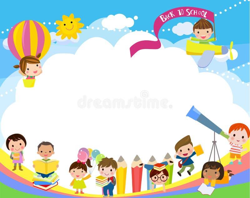 Kinder und Buch vektor abbildung