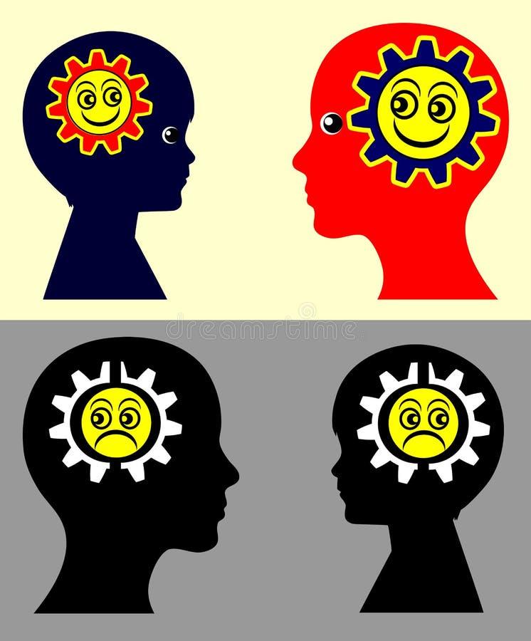 Kinder und emotionale Ansteckung vektor abbildung