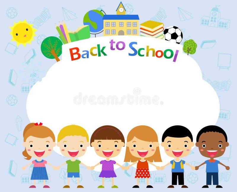 Kinder und Feld lizenzfreie abbildung