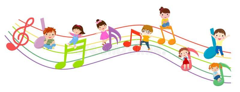 Kinder und Musik stock abbildung