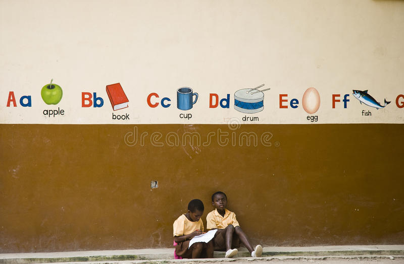 Kinder von Afrika stockbilder