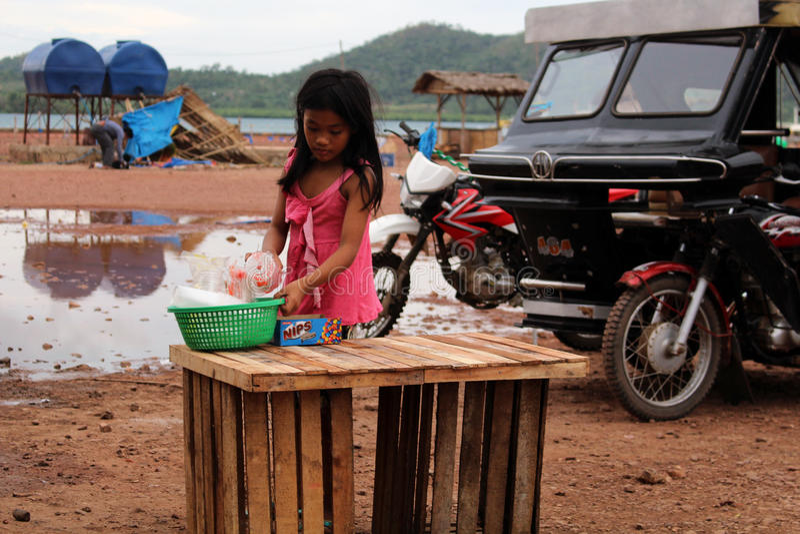 Kinderarbeid Filippijnen stock afbeelding