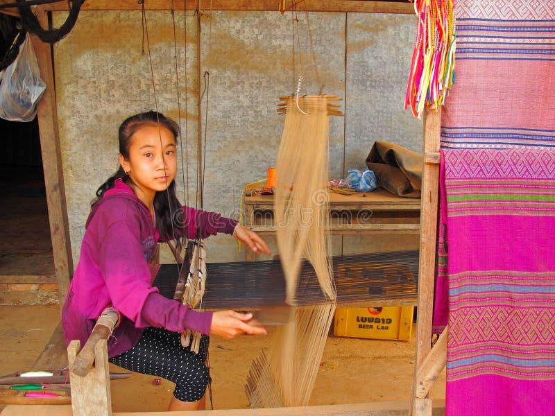 Kinderarbeit in Laos stockbilder