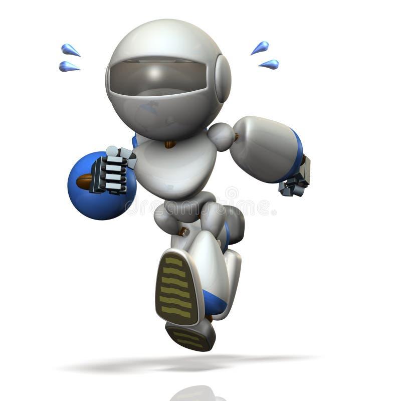 Kinderart Roboter läuft stark lizenzfreie abbildung