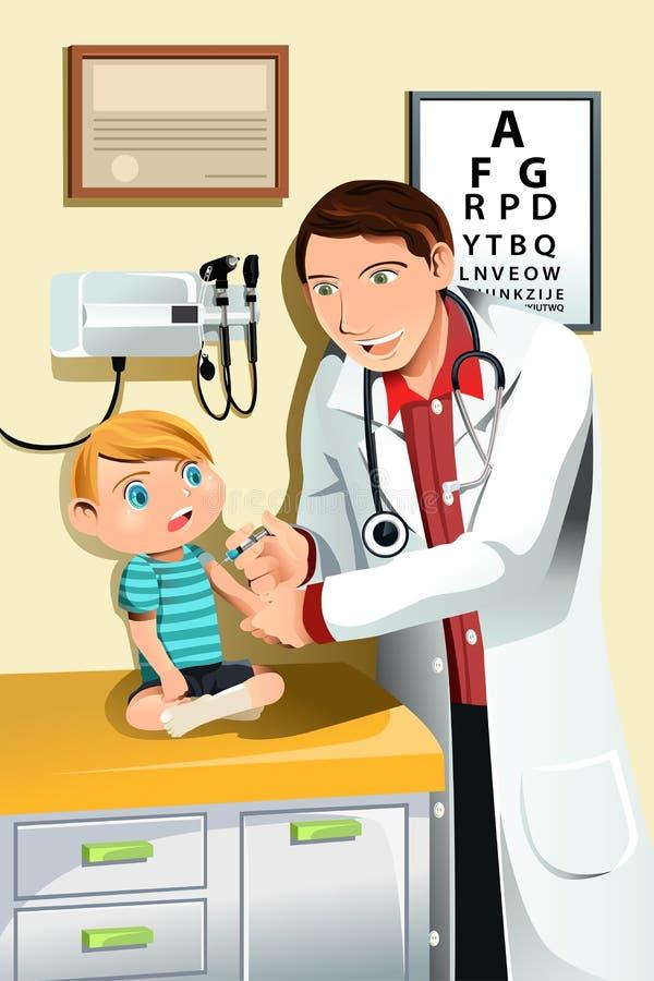 Kinderarzt mit Kind vektor abbildung