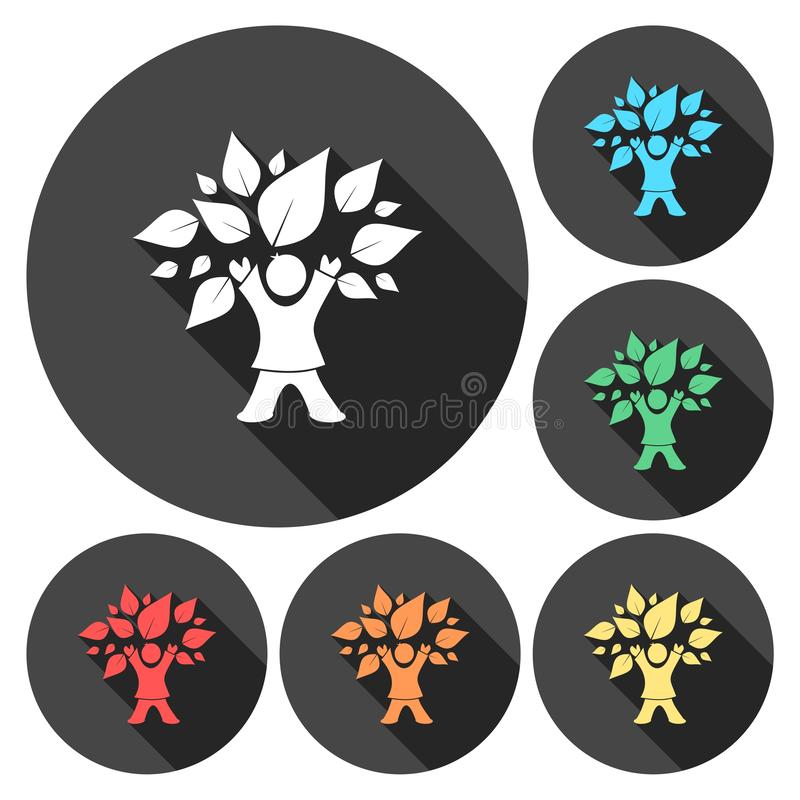 Kinderbaum-Ikonensatz stock abbildung