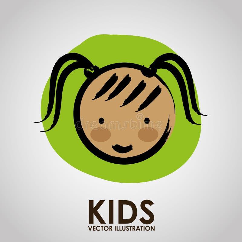 Kinderdesign stock abbildung