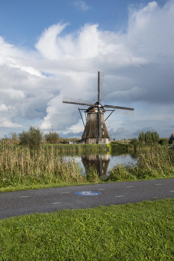 Kinderdijk, οι Κάτω Χώρες, στις 30 Μαΐου 2018 - ανεμόμυλοι σε Kinde στοκ εικόνα με δικαίωμα ελεύθερης χρήσης
