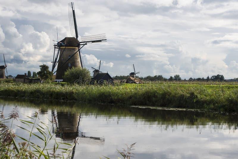 Kinderdijk, οι Κάτω Χώρες, στις 30 Μαΐου 2018 - ανεμόμυλοι σε Kinde στοκ εικόνες