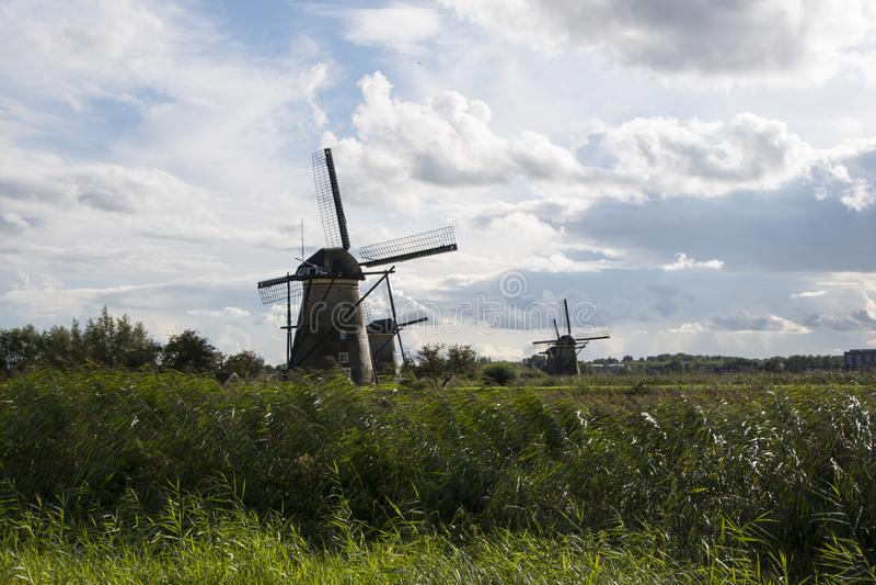 Kinderdijk, οι Κάτω Χώρες, στις 30 Μαΐου 2018 στοκ φωτογραφία με δικαίωμα ελεύθερης χρήσης