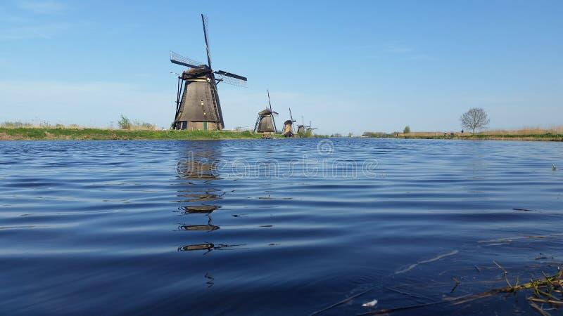 Kinderdijk Голландия Нидерланды стоковая фотография