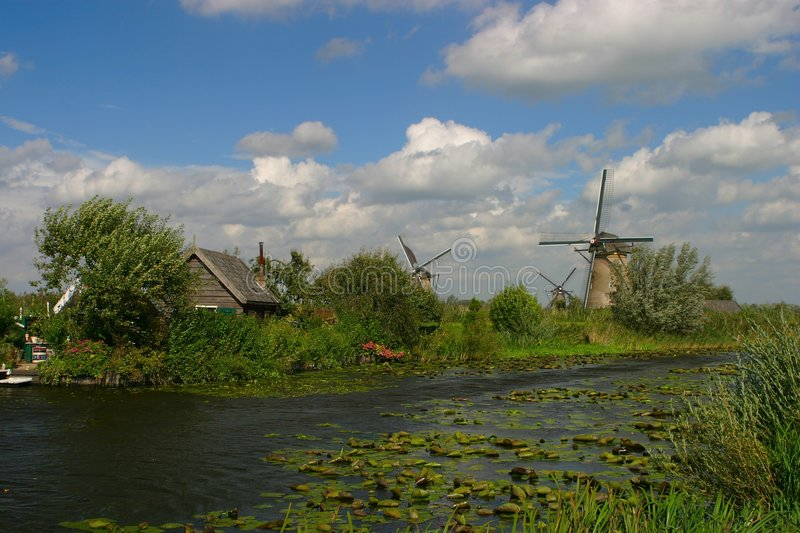 Kinderdijk fotos de stock