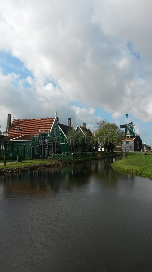 Kinderdijk - les Pays-Bas image stock