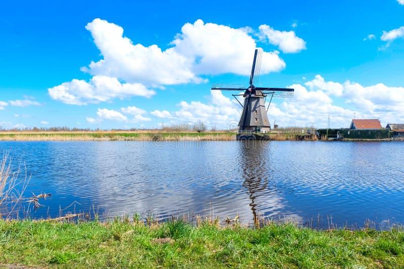 Kinderdijk - Nederländerna royaltyfri fotografi