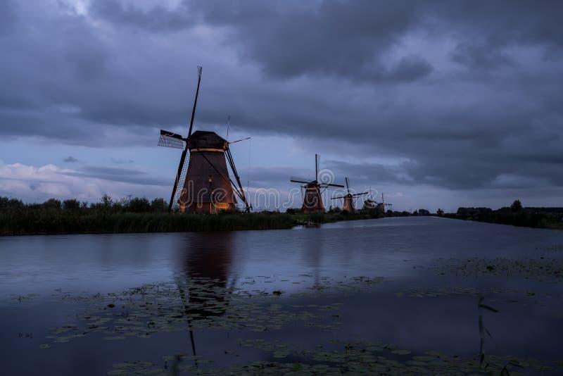 Kinderdijk in Olanda fotografia stock