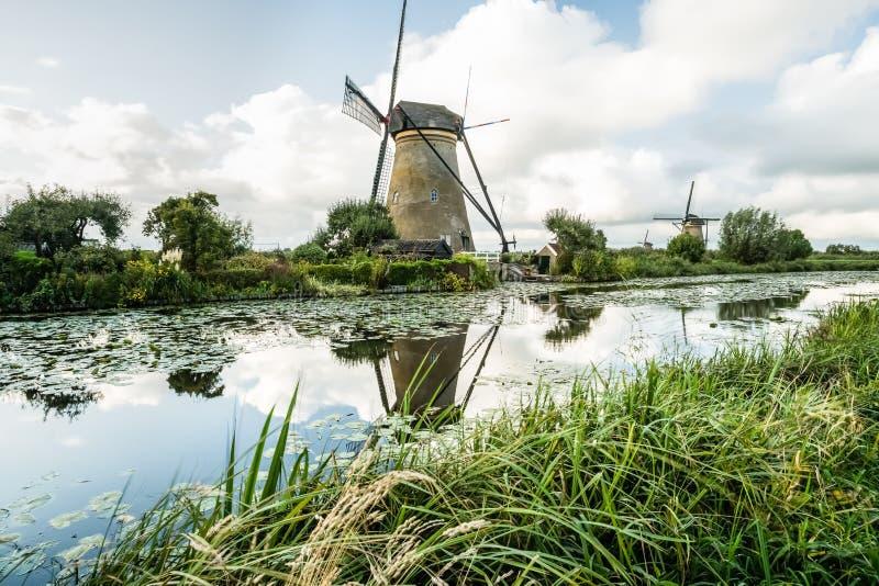 Kinderdijk in Olanda fotografie stock