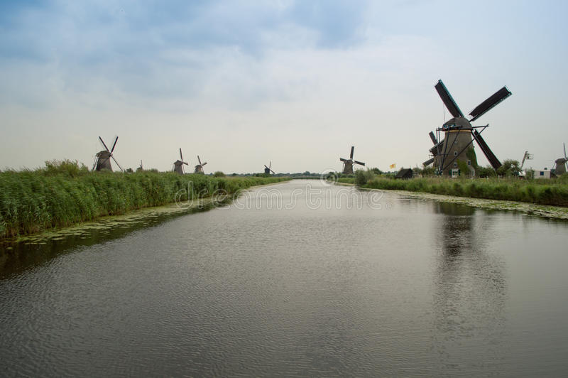 Kinderdijk stock photo