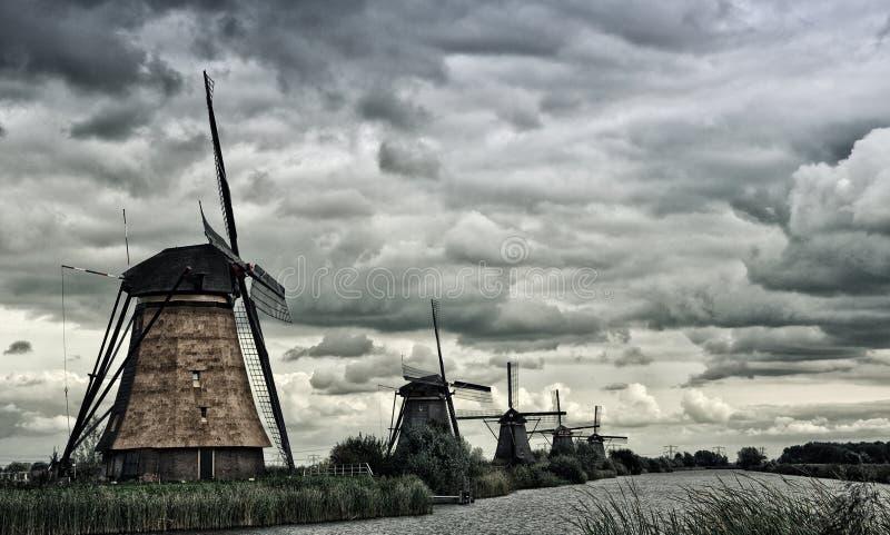 Kinderdijk windmill royalty free stock photos