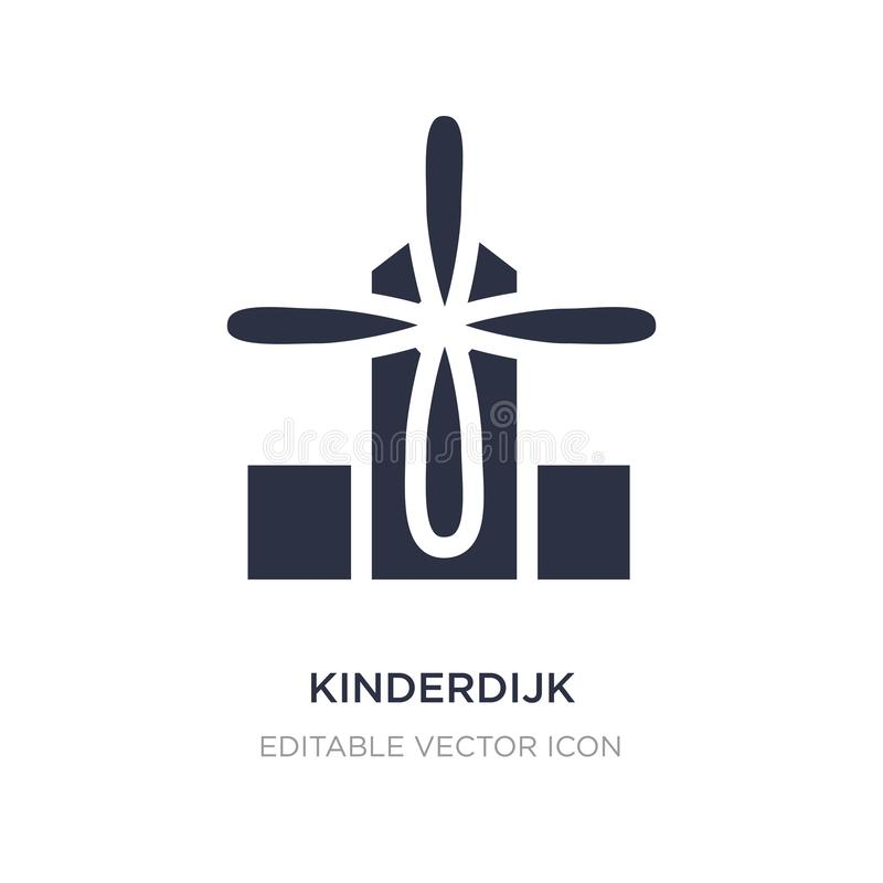 kinderdijk windmills icon on white background. Simple element illustration from Monuments concept vector illustration