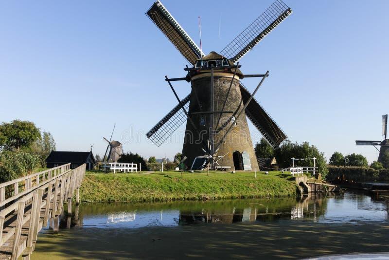 Kinderdjik windmills in Holland stock photo