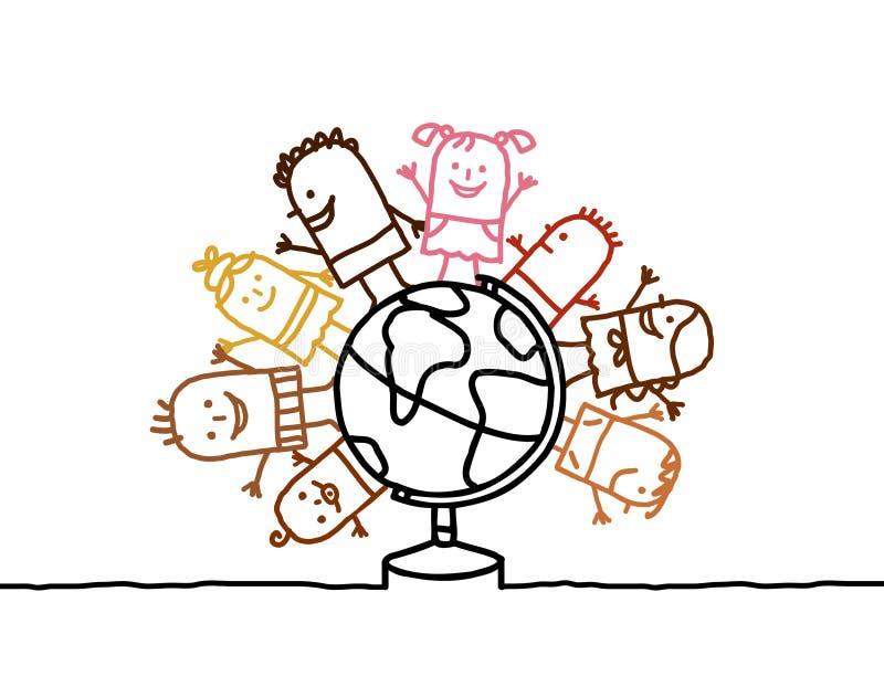 kinderen & wereld vector illustratie