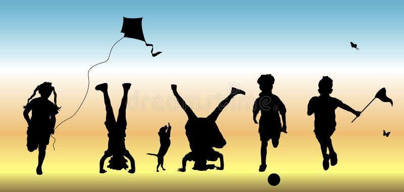 Kinderen bij Spel 1 vector illustratie