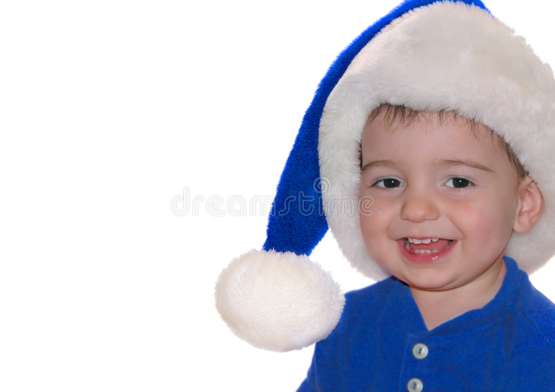 Download Kinderen: De Blauwe Baby Van De Kerstman Stock Afbeelding - Afbeelding bestaande uit hoed, zoon: 30227