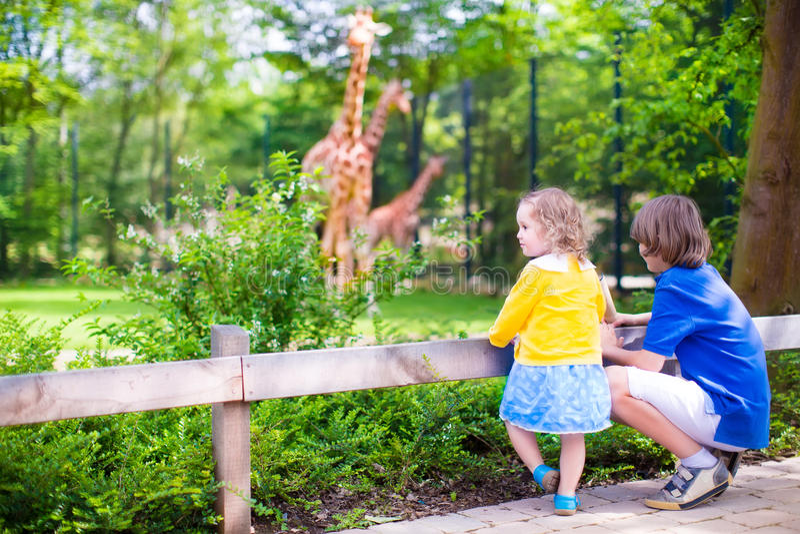 Kinderen in de dierentuin