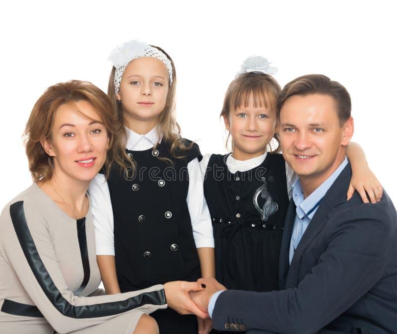 Kinderen in de wapens van ouders royalty-vrije stock afbeeldingen
