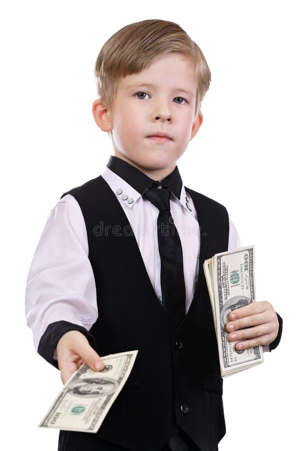 Kinderen die bankier spelen stock afbeelding