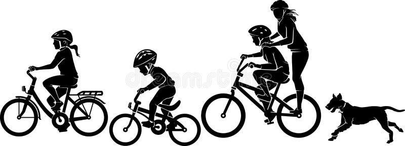 Kinderen die fietsen berijden stock illustratie