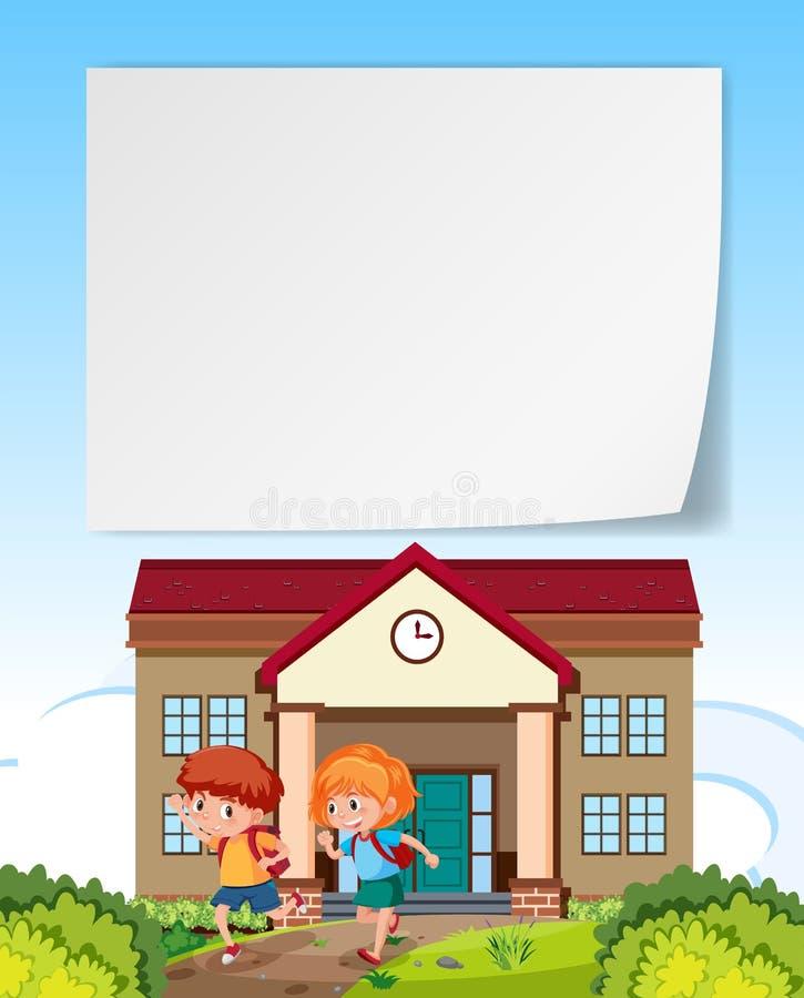 Kinderen die huis lege nota verlaten royalty-vrije illustratie