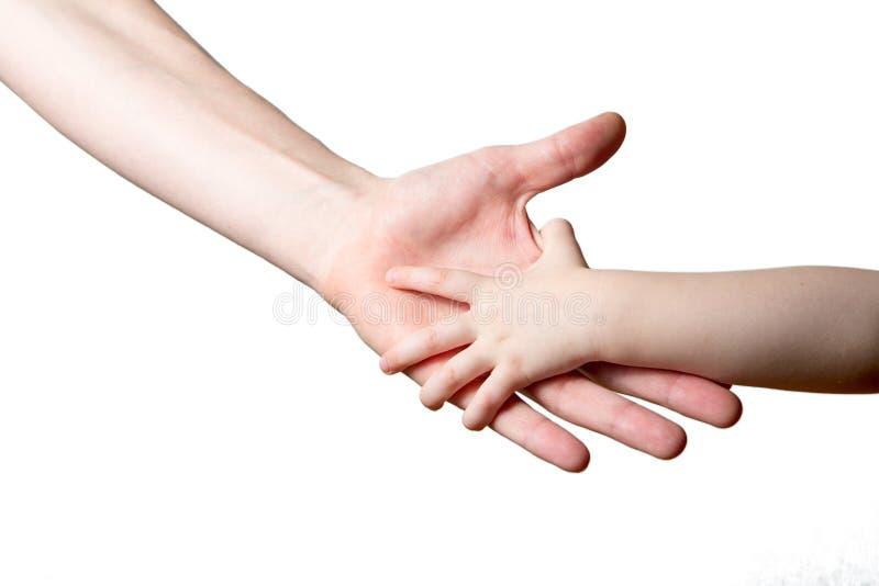 Kinderen en mensen geïsoleerde handen royalty-vrije stock afbeeldingen