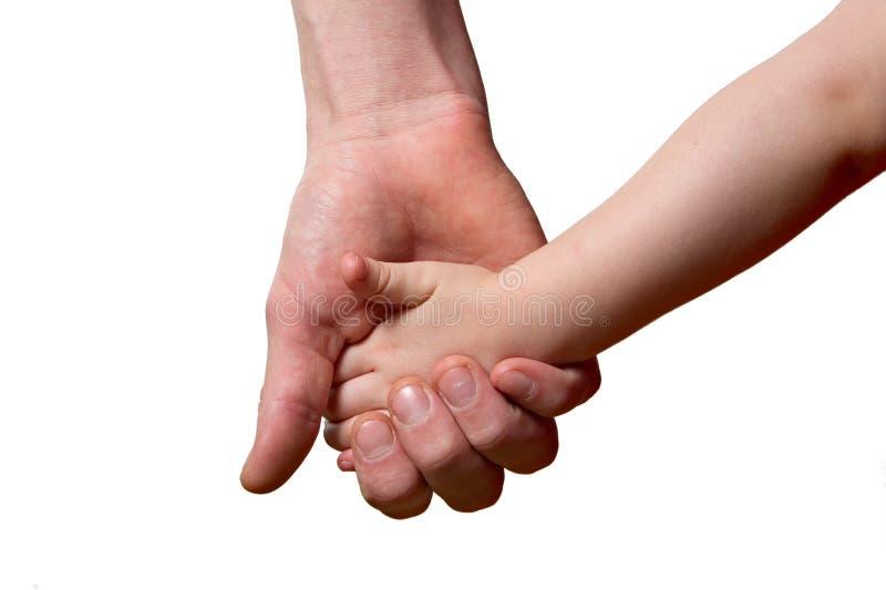 Kinderen en mensen geïsoleerde handen stock afbeelding