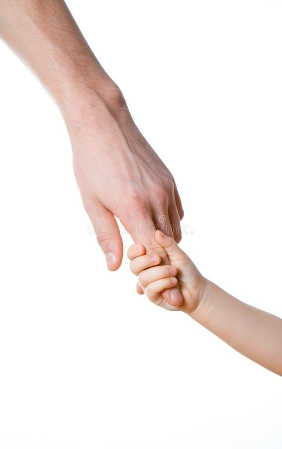Kinderen en mensen geïsoleerde handen royalty-vrije stock foto's
