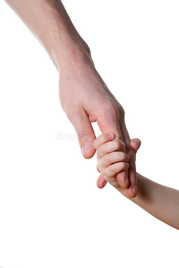 Kinderen en mensen geïsoleerde handen royalty-vrije stock afbeelding