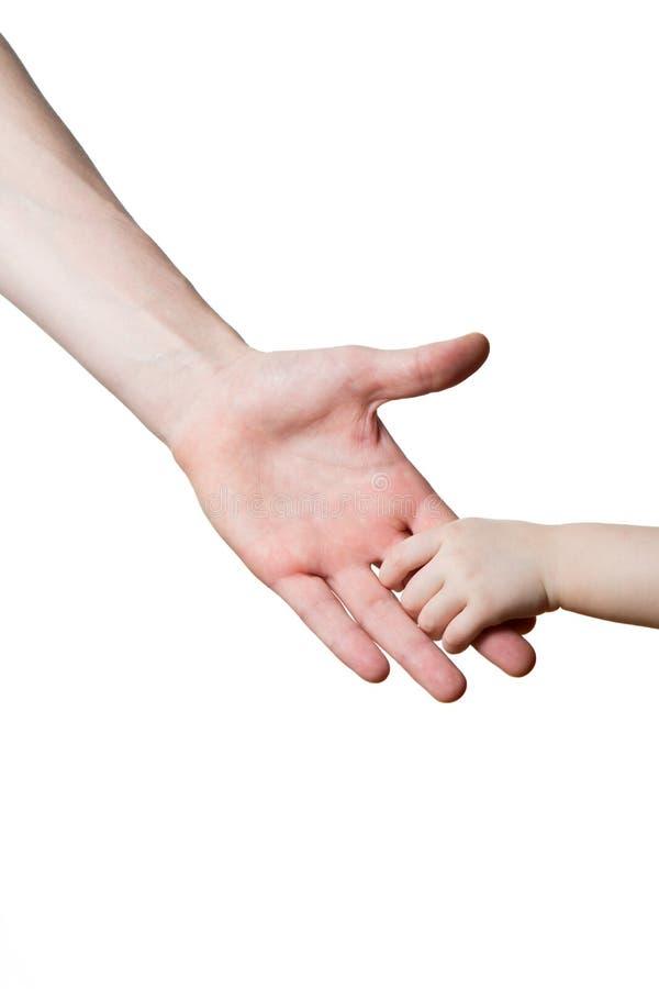 Kinderen en mensen geïsoleerde handen royalty-vrije stock foto