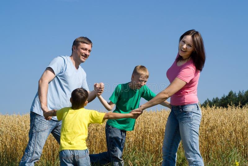Kinderen en ouders royalty-vrije stock afbeeldingen